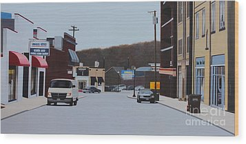 Allston And Madison Wood Print by Dan Lockaby