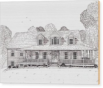 Al's House   Wood Print by Michelle Welles