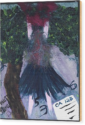 Althea Awaits Her Ca 125 Report Wood Print by Annette McElhiney