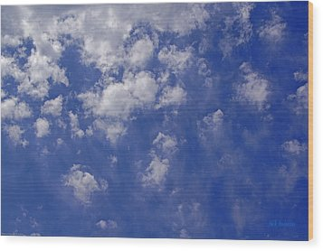 Alto Cumulus With Ice Wood Print by Mick Anderson