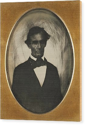 Ambrotype Of Abraham Lincoln, Taken Wood Print by Everett