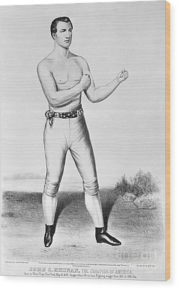 American Boxer, 1860 Wood Print by Granger