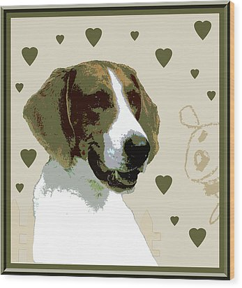 American Fox Hound Wood Print by One Rude Dawg Orcutt