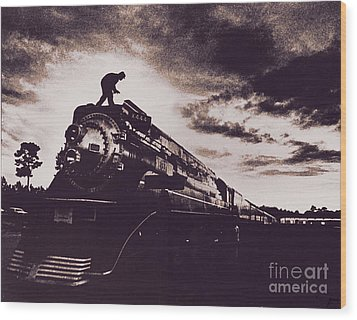 American Freedom Train Wood Print by Jim Wright