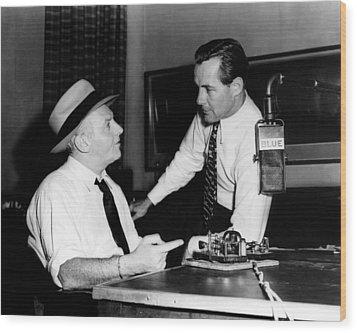 American Radio Commentators Walter Wood Print by Everett