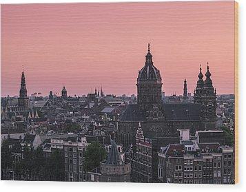Amsterdam 02 Wood Print by Tom Uhlenberg