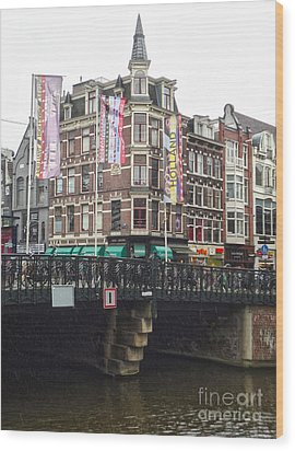 Amsterdam Canal Bridge - 04 Wood Print by Gregory Dyer