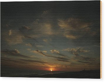 An Atlantic Sunset Wood Print by Christopher Kirby