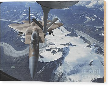 An F-15c Eagle Aircraft Sits Wood Print by Stocktrek Images