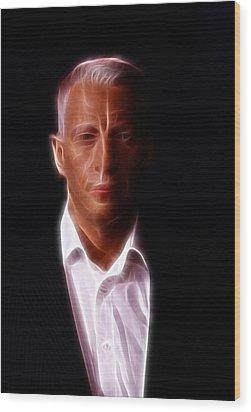 Anderson Cooper - Cnn - Anchor - News Wood Print by Lee Dos Santos