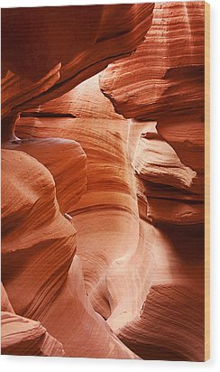 Anelope Canyon - What A Wonderful World Wood Print by Christine Till