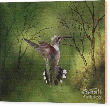 Angel Wings Wood Print by Cris Hayes