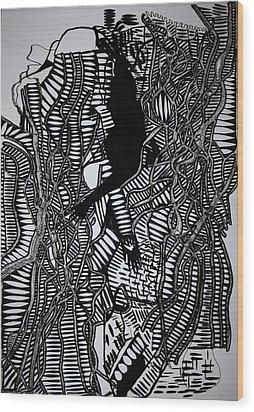 Angels Kiss Wood Print by Gloria Ssali
