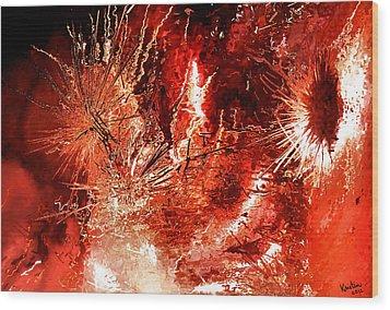 Anger Wood Print by Kristin Elmquist