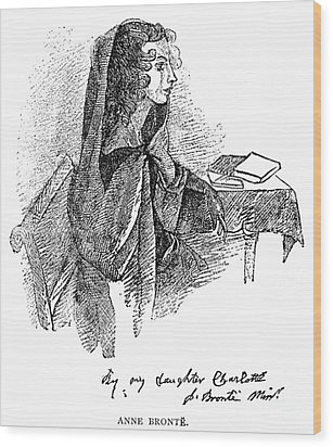 Anne BrontË (1820-1849) Wood Print by Granger
