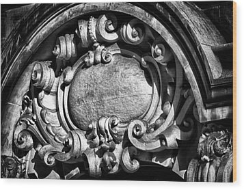 Ansonia Building Detail 13 Wood Print by Val Black Russian Tourchin