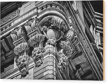 Ansonia Building Detail 46 Wood Print by Val Black Russian Tourchin
