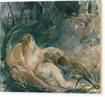 Apollo Appearing To Latone Wood Print by Berthe Morisot