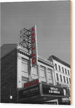 Apollo Theater In Harlem New York No.2 Wood Print by Ms Judi