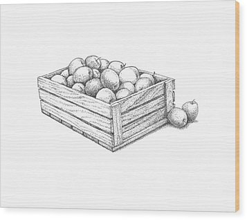 Applecrate Wood Print by Christy Beckwith