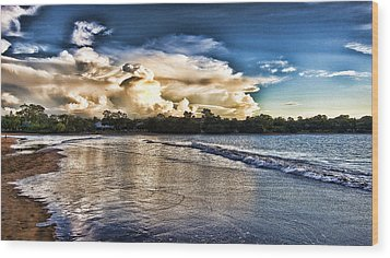 Approaching Storm Clouds Wood Print by Douglas Barnard
