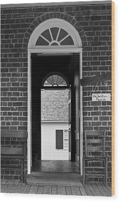 Arched Doors Appomattox Virginia Wood Print by Teresa Mucha