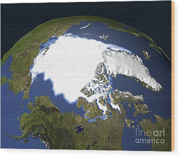Arctic Sea Ice, 1979 Wood Print by NASA / Science Source