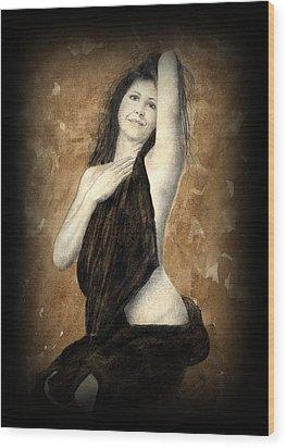 Artists Model Wood Print by Jan Farthing