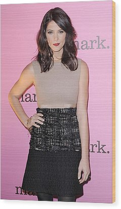 Ashley Greene Wearing A Giambattista Wood Print by Everett