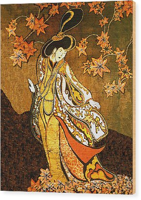 Asian Woman Wood Print by Alexandra  Sanders