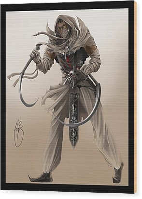 Assassin Wood Print by Antoine Ridley