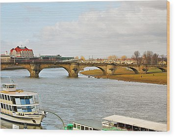 Augustus Bridge Dresden Germany Wood Print by Christine Till