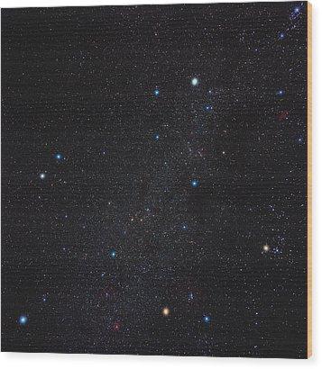 Auriga Constellation Wood Print by Eckhard Slawik