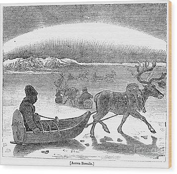 Aurora Borealis, 1833 Wood Print by Granger