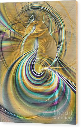 Aurora Of Yellowness Wood Print by Sipo Liimatainen