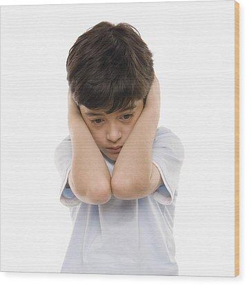 Autistic Boy Wood Print by