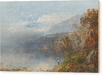 Autumn On The Androscoggin Wood Print by William Sonntag