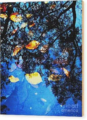 Autumn Reflection Wood Print by Yury Bashkin