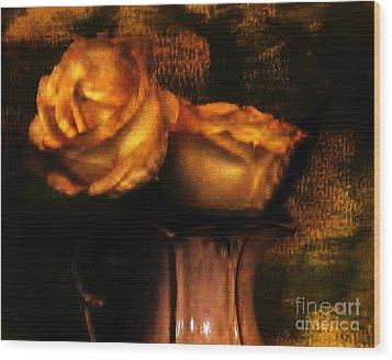 Autumn Roses Wood Print by Marsha Heiken
