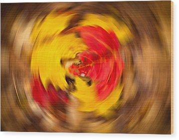 Autumn Trance Wood Print by Matt Dobson