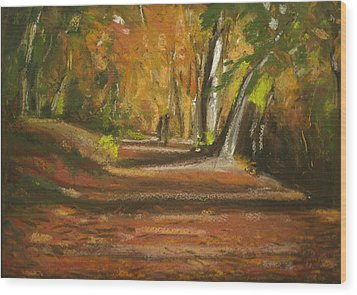 Autumn Woods 4 Wood Print by Paul Mitchell