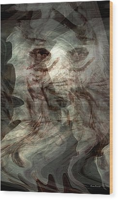 Awaken Your Mind Wood Print by Linda Sannuti