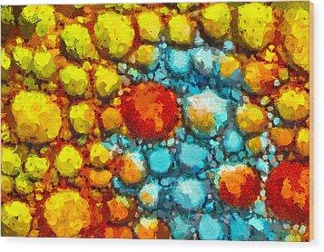 Bacteria 1 Wood Print by Angelina Vick