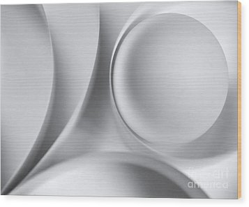 Ball And Curves 04 Wood Print by Nailia Schwarz