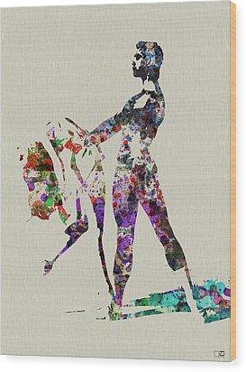 Ballet Dance Wood Print by Naxart Studio