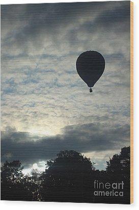 Balloon Shadow Wood Print by Tina McKay-Brown