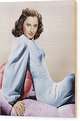 Barbara Stanwyck, Ca. 1946 Wood Print by Everett