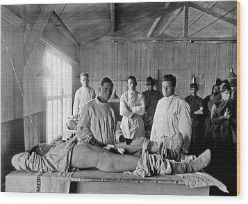 Base Hospital In World War I Wood Print by Usa National Library Of Medicine