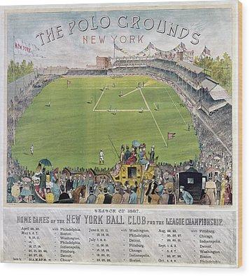 Baseball, 1887 Wood Print by Granger