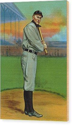Baseball. Ty Cobb Baseball Card Wood Print by Everett